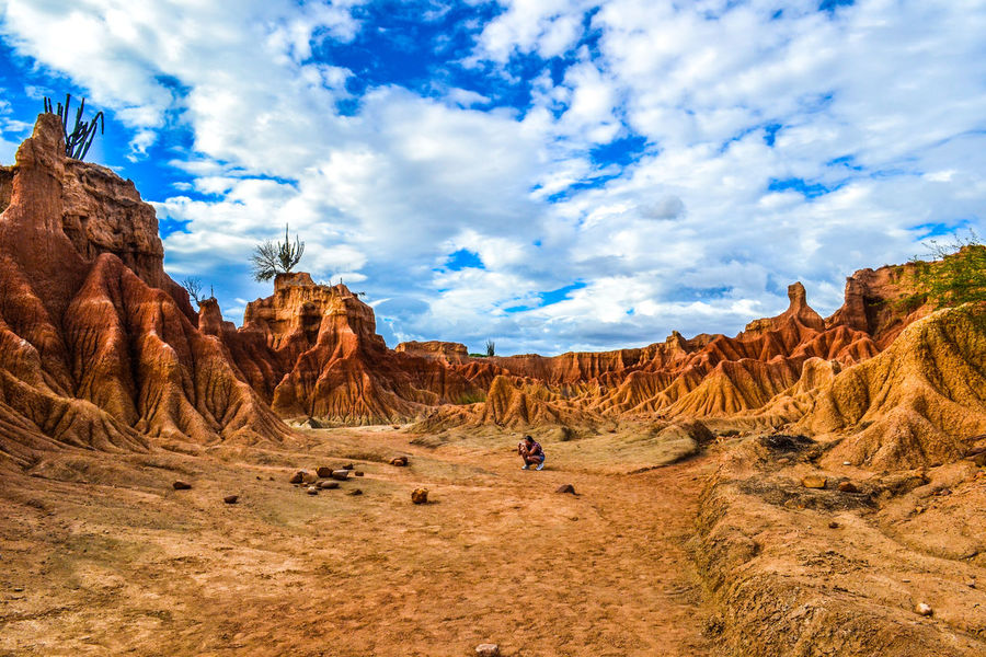 Desierto de la tatacoa. Arid Climate Barren Beauty In Nature Blue Cloud Cloud - Sky Day Desert Eroded Geology Landscape Nature Non-urban Scene Outdoors Physical Geography Remote Rock Rock - Object Rock Formation Scenics Sky Tourism Tranquil Scene Tranquility Travel Destinations