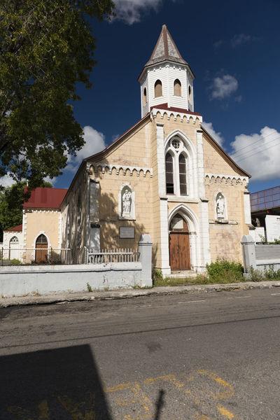 Antigua, City of Saint John's Antigua Antilles State Church City Of Saint John's Cloud Islands Over The Wind Saint John's Antilles Blue Caribbean Christ Commonwealth Sky Small Antilles White