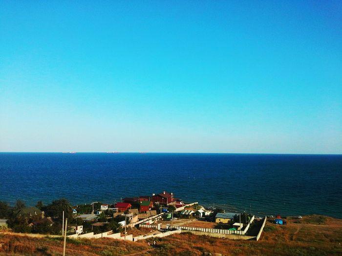 Sea And Sky солнечно Черное море Фонтанка горизонт