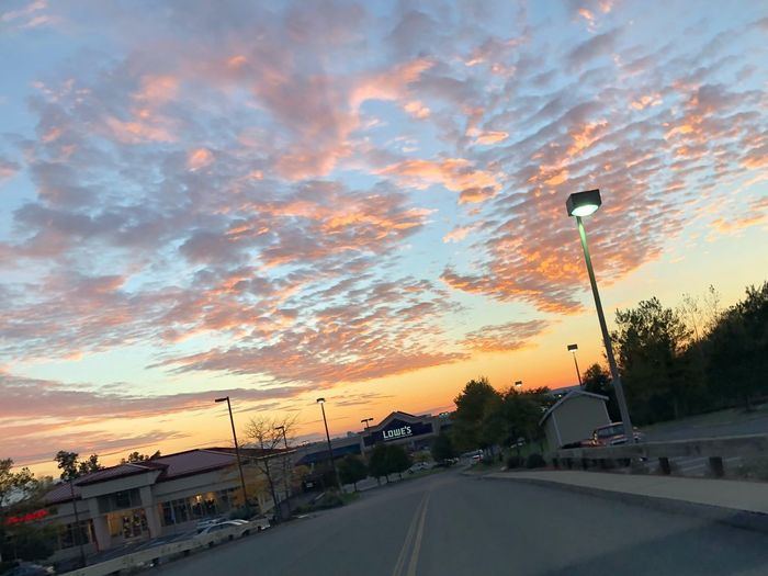 Evening sky beauty Sky Photography Lowes Evening Sun Skyline Sky And Clouds Sunset Street Sky Cloud - Sky Street Light Road EyeEmNewHere Nature No People A New Beginning