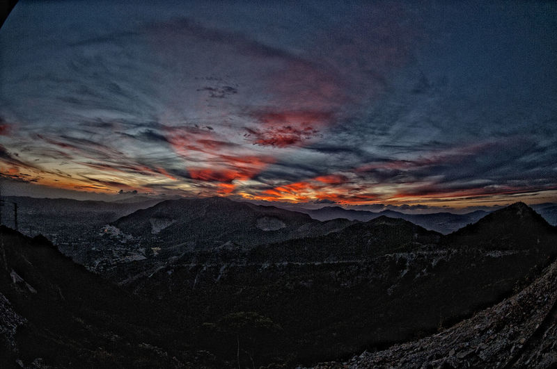View From The Top Beauty In Nature Espectacular Espectacular Sunset Great Sunset Nature No People Outdoors Sky Sunset View From A Mountain View From Above