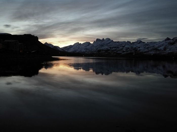 Astronomy Mountain Water Snow Sunset Lake Adventure Reflection Sky Landscape