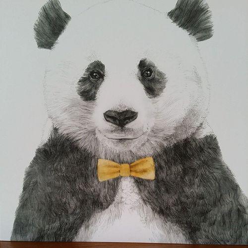 Panda Bowtie Birthdaycard