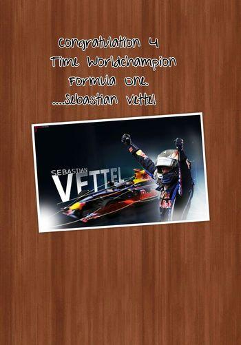 Formula 1 Sebastian Vettel Red Bull World Champion
