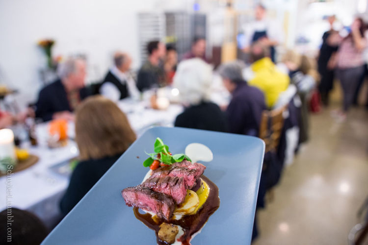 Dinner Homemade Once In A Lifetime Shallow Depth Of Field Alex Garfinkel Caterer Close-up Dinner Table Female Focus On Foreground Garnish Gourmet Guests In The Kitchen Kitchen Meat Personal Chef Plate Plating Plating Food Private Chef Private Dining Private Dining Event Real People Steak