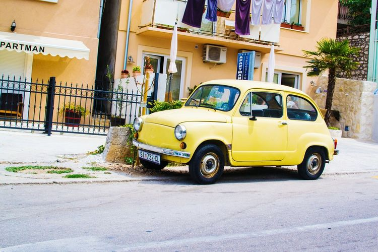 Car Taxi Yellow Taxi Transportation Street Retro Styled Old-fashioned Collector's Car Outdoors Stationary Day Yellow No People Croatia ❤