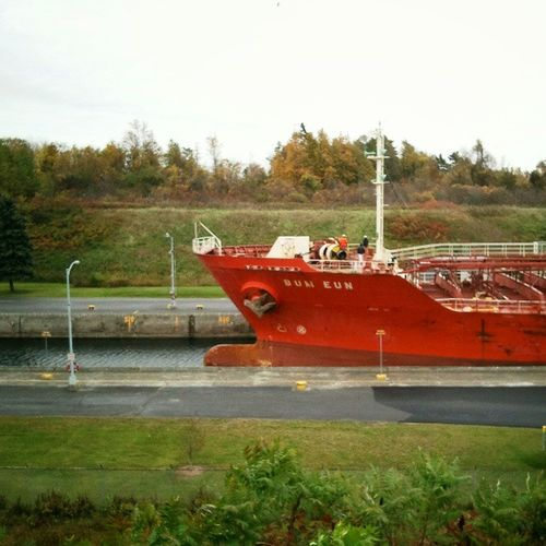 The Bow of BumEun , a Chinese ChemicalTanker in IriquoisLocks . igersottawa