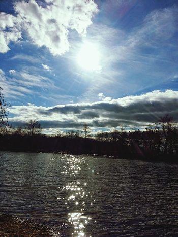 Lake Sun Sky