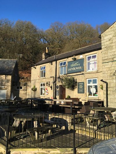 Ladybower Inn Built Structure Architecture Building Exterior Tree Outdoors No People Sky Table Day Peak District Northern England