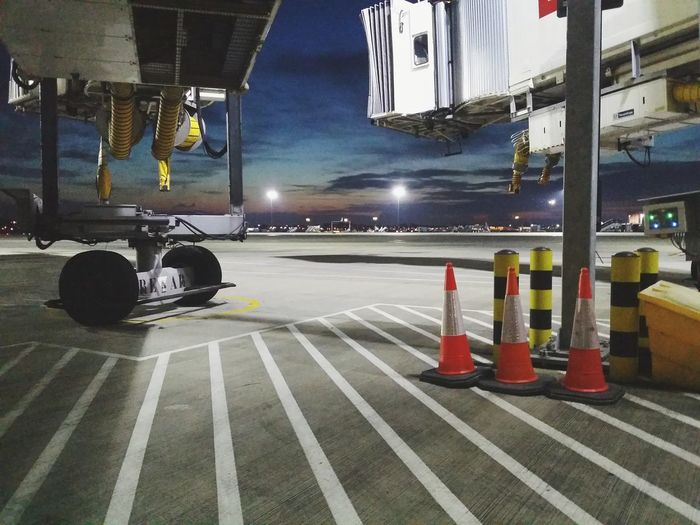 Airport Airside Work Early Morning Early Shift Illuminated Building Exterior Architecture Sunrise Street Lights No People
