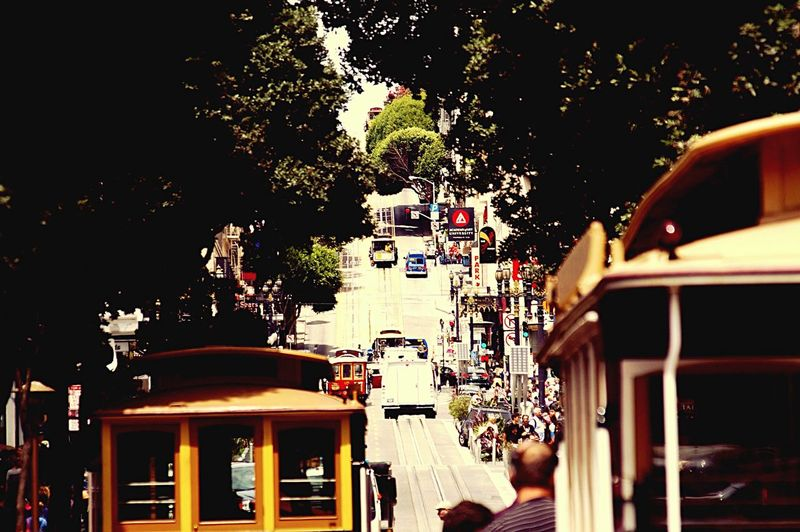 San Francisco Traveling Tramway City City Life '70s Filter Cable Car