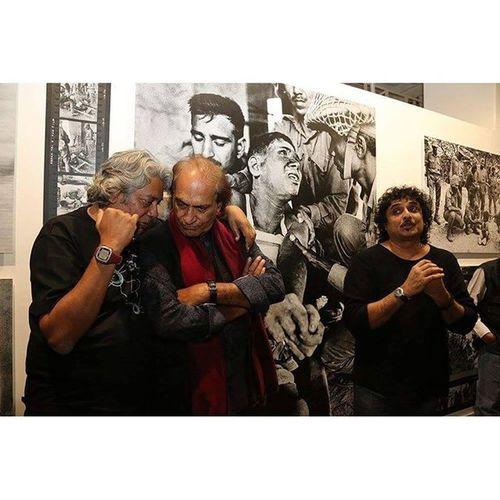 Raghu Rai ,Prashant Panjiar and swapan parekh RaghuRai Delhiphotofestival Magnumphotos Dpf