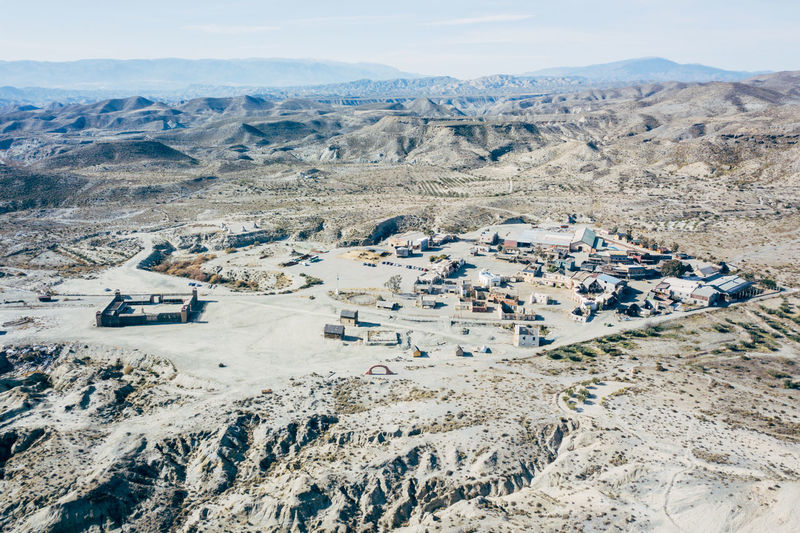 DJI X Eyeem Desert Wild West Aerial View Arid Climate Beauty In Nature Day Desert Landscape High Angle View Landscape Mountain Nature No People Outdoors Sand Scenics Sky Tabernas Desert Tranquil Scene Tranquility Western