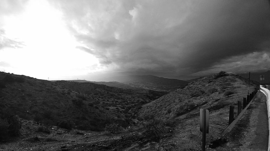 Cloud - Sky Landscape Sky Nature Outdoors No People Scenics Beauty In Nature Nature Black And White Photography Eye Em Best Shots Monochrome Photography EyeEm Nature Lover El Cajon Pass California