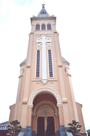 Da Lat cathedral Cathedral Pastel Power Da Lat Vietnam Church Old Backpacking