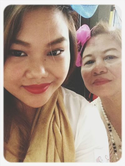 Selfie with Ma. Selfie