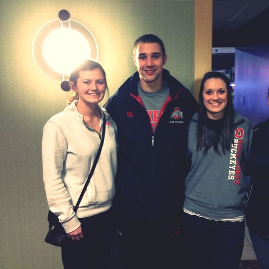 Me and my roommate with the one and only Aaron Craft