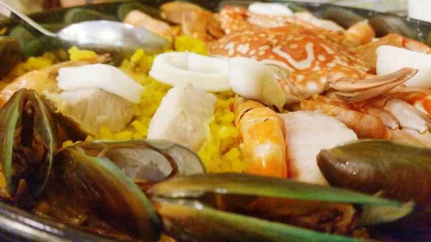 OpenEdit Paella Spanish Food Crabs Squid Seafood Foodphotography Foodie Food Porn For EyeEm Foodies.