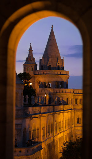 #budapest #castle  #hungary Arch Architecture Building Exterior Built Structure History Religion Sky Sunset