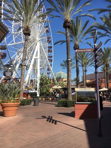 Upscale Urban Shopping Mall Ferris Wheel Tustin, California
