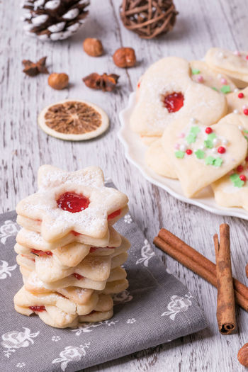 Christmass cookies Christmas Cookies Christmas Time Orange Bakery Cinnamon Close Up Close-up Day Dessert Food Food And Drink Food Still Life Foodphotography Fresh Freshness Indoors  Marmelade No People Ready-to-eat Sweet Sweet Food Table Table Close Up Cookie Wood - Material
