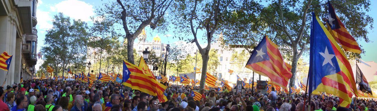 Passeig de Gràcia, Barcelona 11S 11setembre Catalonia Catalunya Diada Estelada