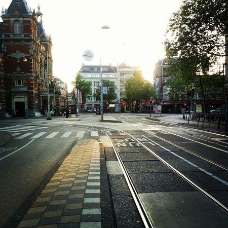 Amsterdam Wednesday Early Morning Leidseplein