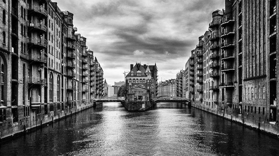Hamburg Wasserschloss Speicherstadt Hamburg Speicherstadt Black And White Architecture Urban Geometry Fineart