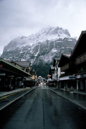 drive through Beautiful Beautiful Nature Dark Grindelwald Mood Moody Moodyness Mountains Swiss Swiss Alps Tones Village