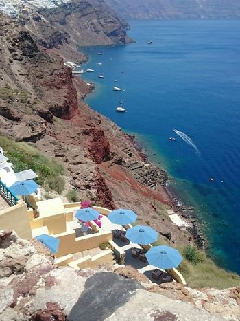 Santorini Santoriniisland Oia Oia Santorini Sea Seaview Mountains Mediterranean  Yahts ParadiseView Greece Island Греция Санторини