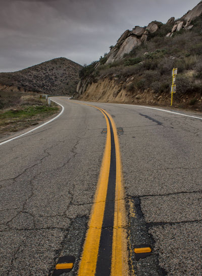 Day Highway Mountain Nature No People Outdoors Road Sky Winding Road