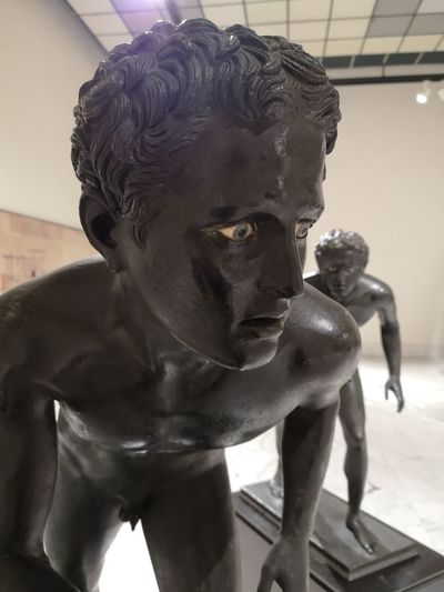 Close-up of statue in museum