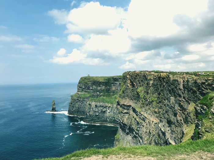 Nature Ocean Sea Cliffs Of Moher  Cliff Land Green Color Travel Plant No People Sunlight