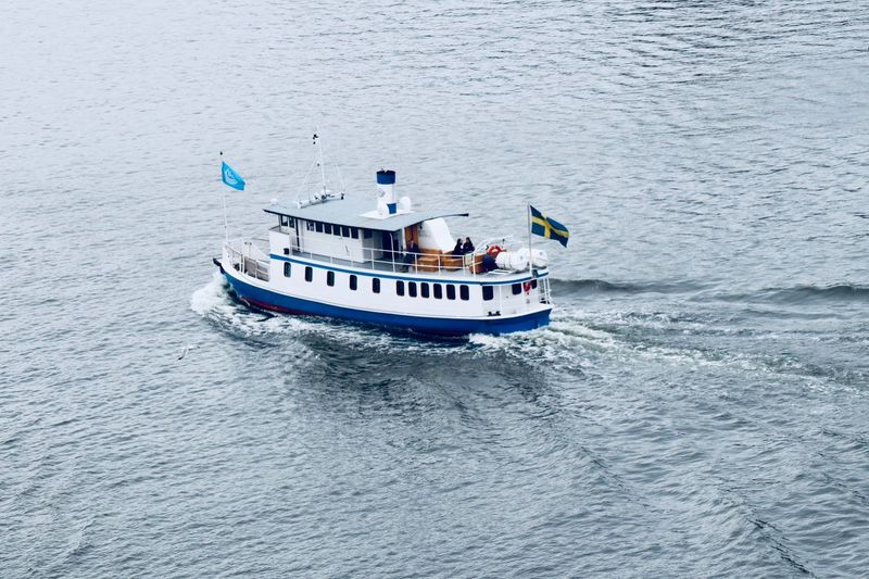 Swedish Ferry Boat Nautical Vessel Water Transportation Mode Of Transportation Nature Sea Travel Day People Outdoors Real People Waterfront Passenger Craft
