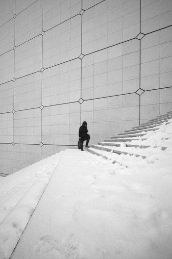 RICOH GR 2 Blackandwhite Monochrome Snow Streetphotography