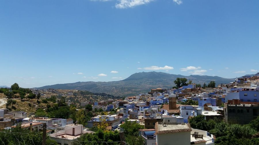 chefchaouene city ,morocco Montagne Chefchaouen Morocco Maroc Tree Architecture Plant Mountain Sky Nature No People Day Outdoors Natural City