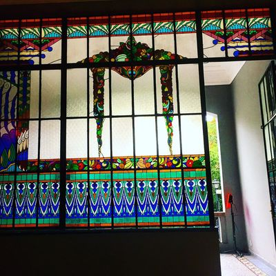 Architecture Cdmx Mexico Vitral Stained Glass Muse Toilet Toilette Old House ColoniaRoma LaRoma Color Colors Colorful
