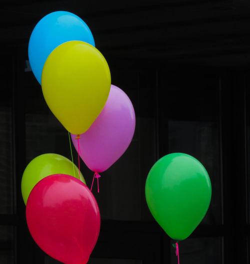 Helium Balloon Balloon Multi Colored Helium Green Color Various My Best Photo The Minimalist - 2019 EyeEm Awards