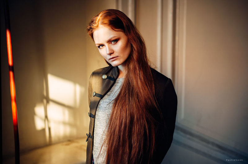EyeEm Selects Arts Culture And Entertainment Redhead Individuality Dyed Hair Red Lipstick Hair Care Hair Bun Human Lips Hairstyle Wavy Hair Hair Length Dyed Red Hair Pink Hair