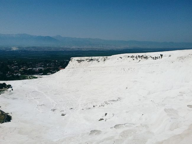 Pamukkale Travertenleri Beach Sand Outdoors Landscape Sea Summer Day No People Nature Sand Dune Beauty In Nature Sky Travel Nature Water