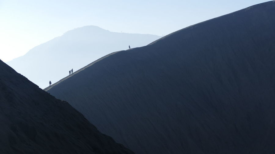 Bromo - Java - Indonesia INDONESIA Java Shadows & Lights Silhouette Bromo Crater Dramatic Landscape Indonesia_photography Lines And Shapes Mountain People Shadow Vulcanic Landscape Vulcano Wilderness