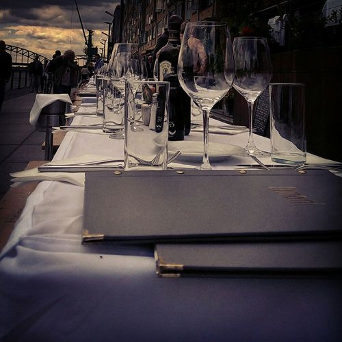 Colonge Koln_love♡ Cologne , Köln,  Rhein Rheinufer Rheinauhafen Table Glasses How's The Weather Today?