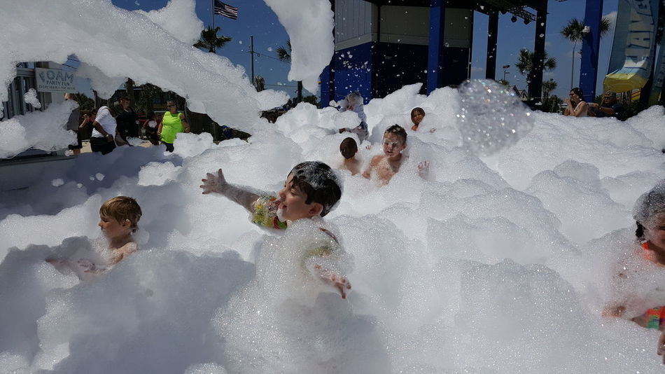 It's a gloomy morning here today, so here's a sunny pic from last weekend's foam party! #children #alabama  #fun Childhood The Street Photographer - 2018 EyeEm Awards