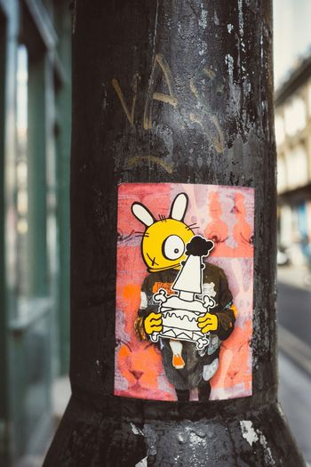 Bunny brigade Check This Out Streetphotography London Street Art Sticker Bunny  Stickerart Bunny Brigade