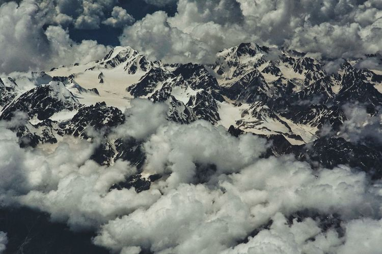 Snow Cloud - Sky Cold Temperature Mountain Landscape Nature Beauty In Nature Aerial View No People Sky Clouds The Caucasus Mountains ILCE7M2 Zuiko 50mm F1.8 Been There. Perspectives On Nature