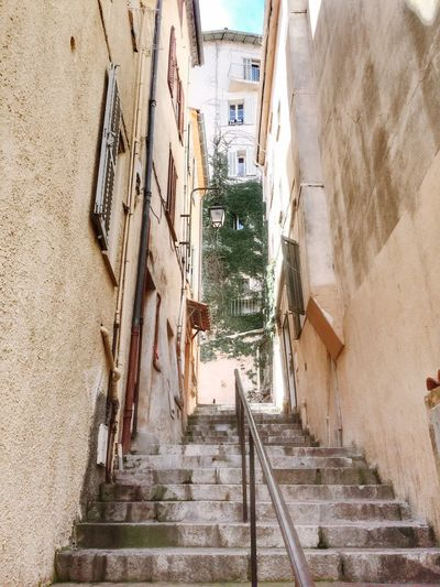 Empty Narrow Narrow Street Cannes France Stairs City Streetphotography IPhoneography