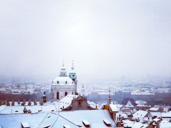 Winter Snow Architecture Prague Prague Czech Republic Prague Old Town Winter Wonderland Church Architecture Cityscape City View  Outdoors Prague Photography Praguelover Historical Building Oldtown View Prague♡ Wintercity Kostel Sv. Mikuláše Photooftheday Photograph