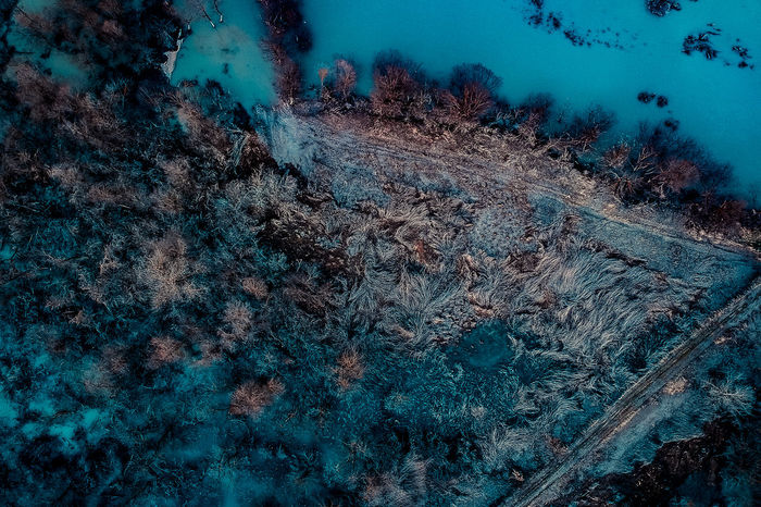 DJI X Eyeem Aerial Photography Aerial View Beauty In Nature Cold Temperature Day Forest Landscape Nature No People Outdoors Snow Tranquility Tree Winter