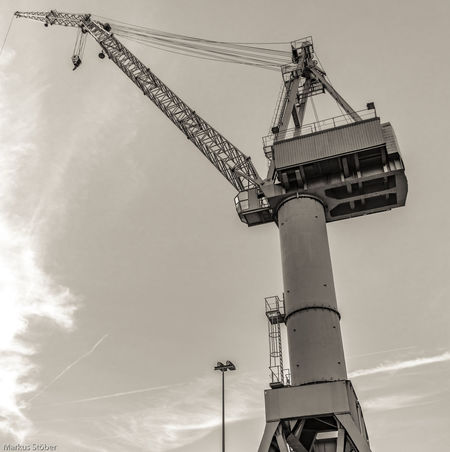Meyerwerft Kran Cable Cloud Construction Construction Industry Construction Site Crane Crane - Construction Machinery Day Development Low Angle View No People Outdoors Pole Power Supply Sky Tall Tall - High