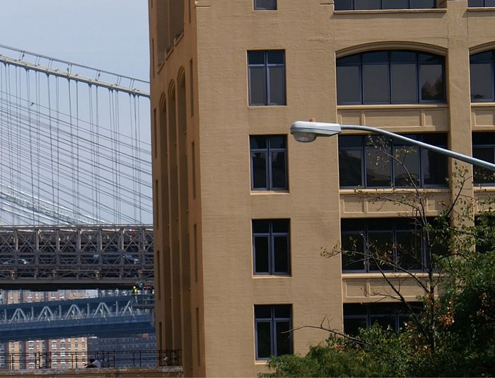 point of view Architecture Bridge Building Exterior Built Structure City Day Manhattan Bridge/New York No People Outdoors Point Of View Ropes Steel Cable Steel Structure